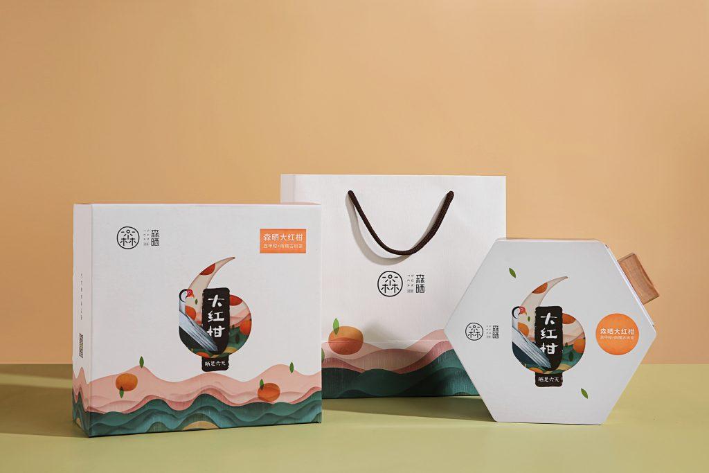 thiết kế hộp giấy bao bì trà